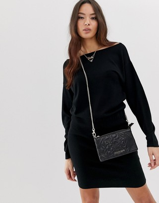 Asos Design DESIGN knit dress with pencil skirt and slouchy top