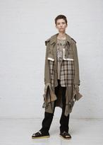 Maison Margiela beige melange hooded melange jacket