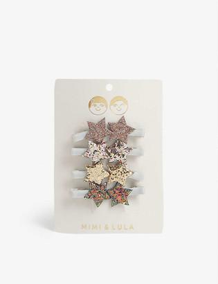 Mimi & Lula Sequin star hair clips set of eight