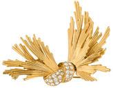 Givenchy Abstarct Crystal Bow Brooch