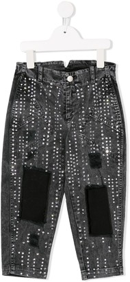 Philosophy Di Lorenzo Serafini Kids Embellished Tapered Jeans