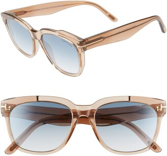 Tom Ford Rhett 55mm Square Sunglasses
