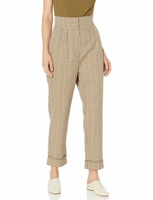 C/Meo Women's Viewpoint Pleated High Waist Cuffed Trouser Pants