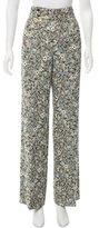 Chloé Wide-Leg Brocade Pants