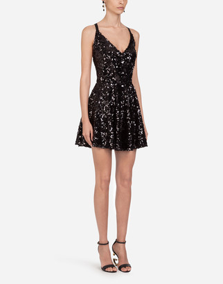 Dolce & Gabbana Short Sequined Dress