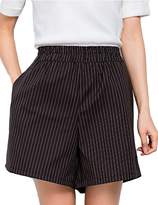 ZANLICE Women's Plus Size Stripes Wide Leg Shorts With Pocket