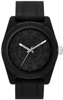 Diesel 'NSBB' Logo Dial Silicone Strap Watch, 46mm