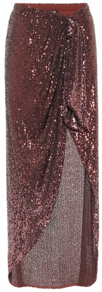 Balmain Sequined maxi skirt