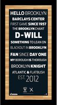 """Steiner Sports Brooklyn Nets 19"""" x 9.5"""" Vintage Subway Sign with Game-Used Net"""
