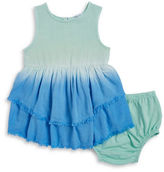 Splendid Little Girls Dip-Dyed Dress and Bloomers Set