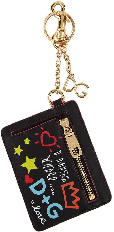 Dolce & Gabbana Doodle Printed Pouch Keyring