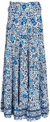 Poupette St Barth Camilla Floral Maxi Skirt