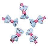 Mini Hair Clips,WuyiMC 5 PCS Baby Girl Ribbon Bowknot Hair Bows Clip Hairpin Headwear Cute (P4-C)