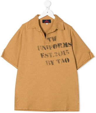 The Animals Observatory Graphic-Print Short-Sleeved Polo Shirt