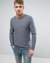 Brave Soul Crew Neck Knitted Jumper With Sausage Roll Neck