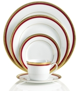 Charter Club Red Rim 5 Piece Place Setting (Only at Macy's)