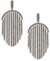 Adriana Orsini Pave Fringe Drop Earrings