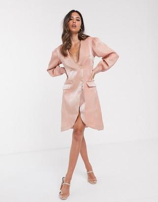 UNIQUE21 tailored shimmer blazer dress