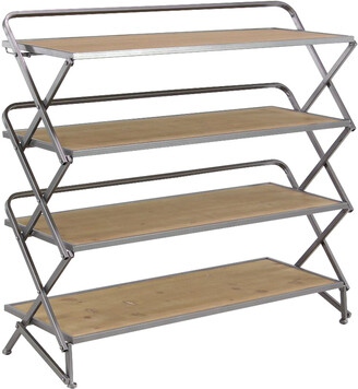 Uma Enterprises Farmhouse Foldable Four-Tiered Shelf