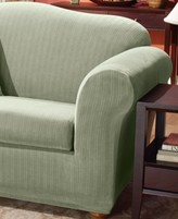 Sure Fit Stretch Pinstripe 2-Piece T-Cushion Sofa Slipcover