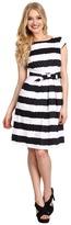 Tahari by Arthur S. Levine Tahari by ASL Hilda Cotton Satin Stripe Dress