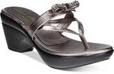 Callisto Lassye Platform Wedge Thong Sandals
