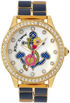 Betsey Johnson Women&s Anchor Crystal Bracelet Watch