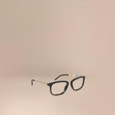 Burberry Check Detail Square Optical Frames