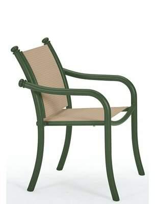 Scala Tropitone La Patio Dining Chair Tropitone Frame Color: Woodland, Seat Color: Taylor