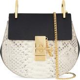 CHLOE Drew mini python-print leather shoulder bag