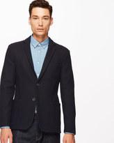 Italian Wool Jersey Unstructured Blazer