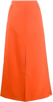 Courreges A-line maxi skirt