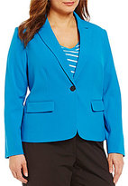 Calvin Klein Plus Lux One-Button Front Jacket