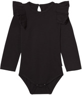 The Brand Black Long Sleeve Flounce Onesie