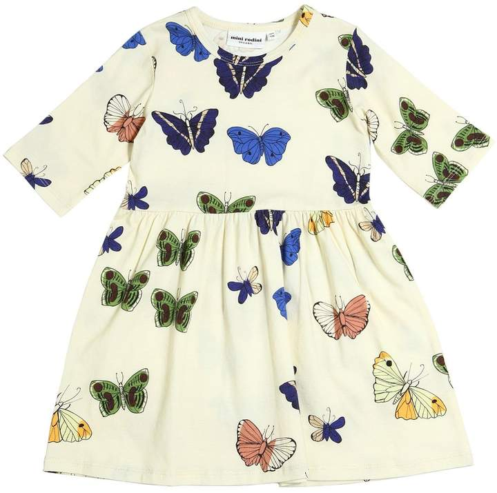 Mini Rodini Butterflies Organic Cotton Jersey Dress