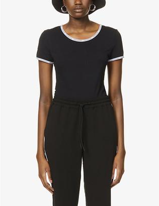 Calvin Klein Logo-tape stretch-cotton jersey body