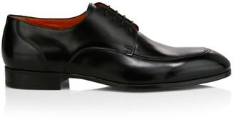 Santoni Lace-Up Leather Dress Shoes