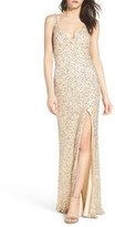 Mac Duggal Women's Sequin Slit Gown