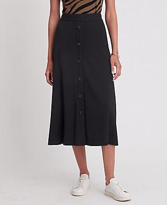 Ann Taylor Petite Button Column Midi Skirt