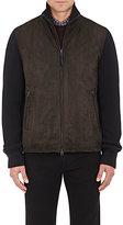 Ermenegildo Zegna Men's Suede & Wool-Blend Insulated Jacket-DARK GREY