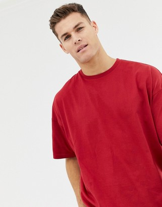 Asos Design DESIGN oversized t-shirt with crew neck in red