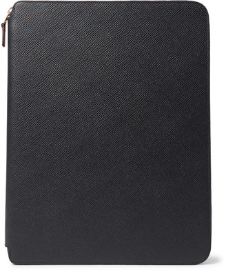 Smythson Panama A4 Cross-Grain Leather Zip-Around Portfolio