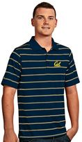 Antigua Men's Cal Golden Bears Deluxe Striped Desert Dry Xtra-Lite Performance Polo