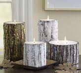 Metallic Bark Candles