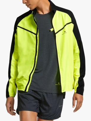 Ronhill Tech Tornado Men's Water Resistant Running Jacket, Fluo Yellow/Black