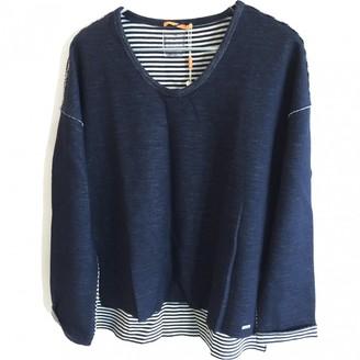 HUGO BOSS Blue Cotton Knitwear for Women