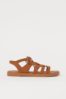 H&M Laced sandals - Beige