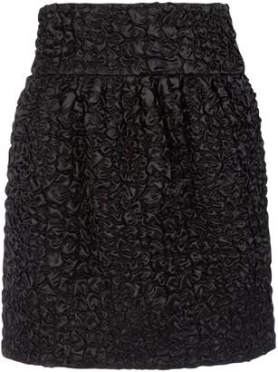 Saint Laurent Smocked Mini Skirt