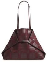 Akris Medium Ai Leather Shoulder Tote - Burgundy