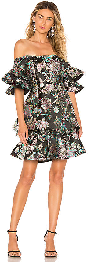 Thurley Oriental Jacquard Mini Dress